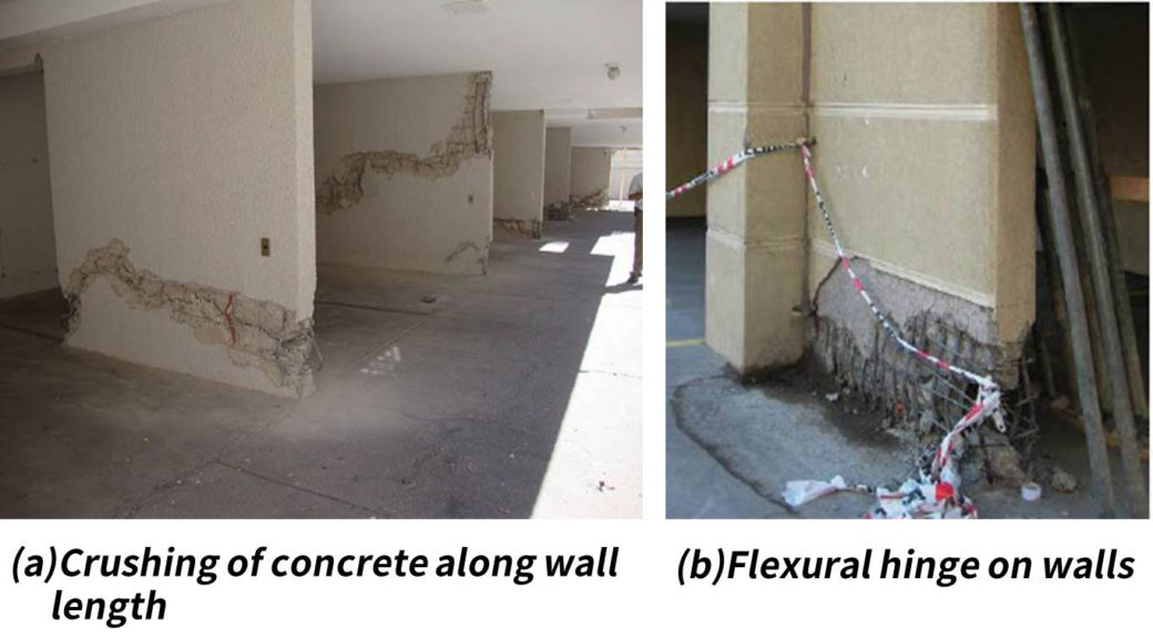 Figure 1 : Damages of structural walls by the 2010 Chile earthquake (Bonelli et al.)