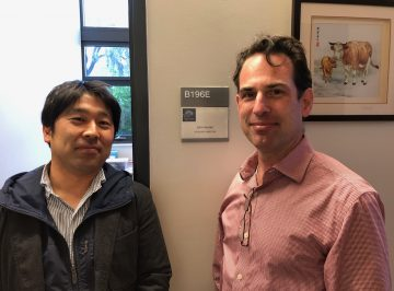 Dr. Kanbara arrived back from San Diego, University of California